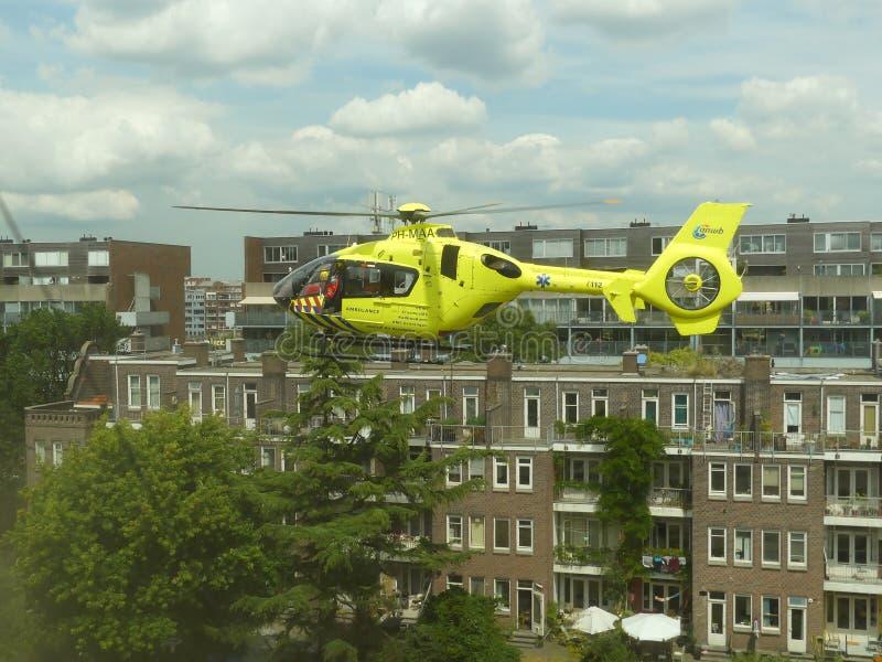 紧急医疗创伤直升机 库存照片