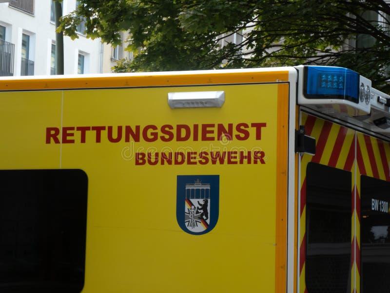紧急医疗救护车 库存照片