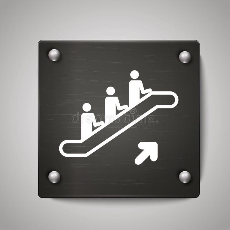 紧急台阶铁标志 皇族释放例证