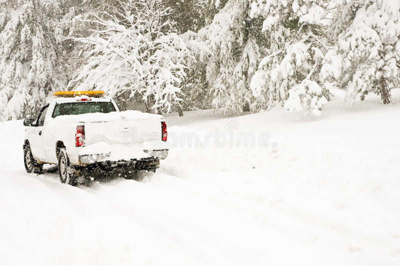 紧急暴风雪通信工具 免版税库存照片