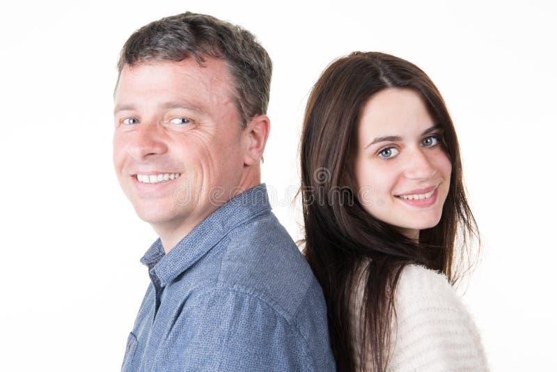 紧接乐趣夫妇父亲和少年女儿 库存照片