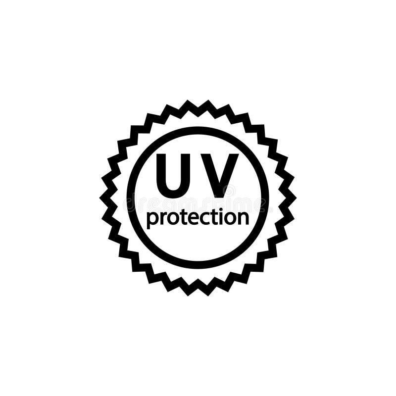 紫外保护标志 回合在之字形圈子签字 向量例证