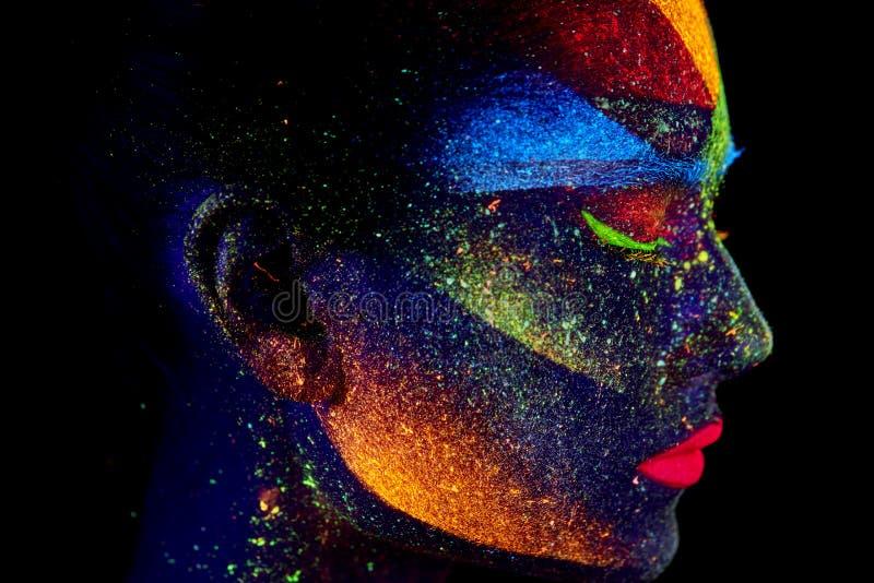 紫外抽象画象的关闭 库存图片