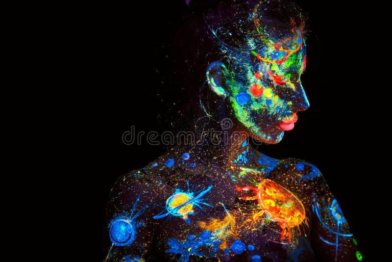 紫外画象的宇宙关闭 免版税库存图片