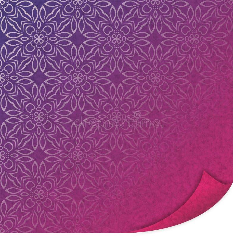 紫外被折叠的纸样式传染媒介例证 向量例证