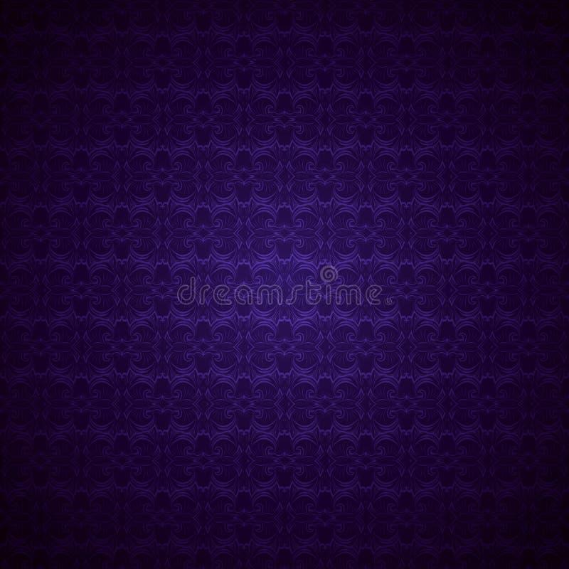 紫外,紫水晶制成的哥特式葡萄酒背景,皇家与经典巴落克式样,洛可可式,大马士革 向量例证
