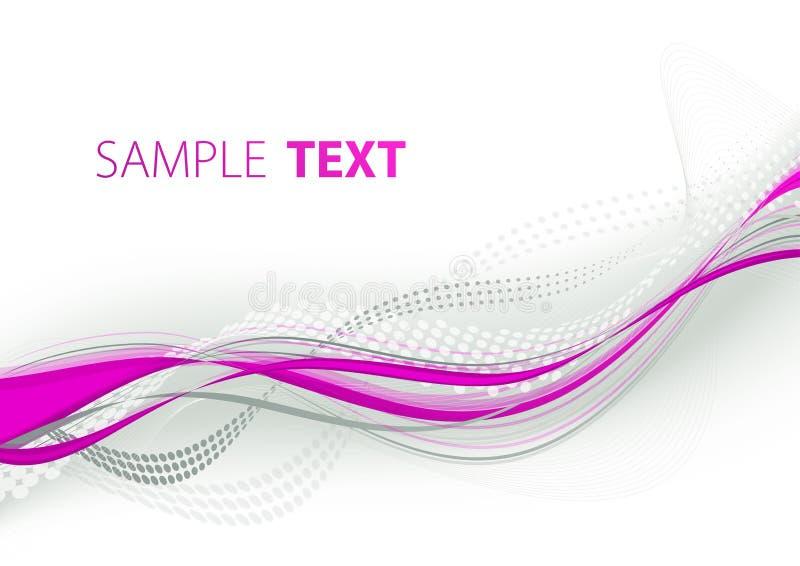 紫红色波浪线路 库存例证