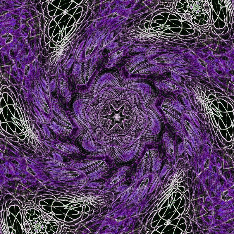 紫罗兰色万花筒追踪的作用 向量例证