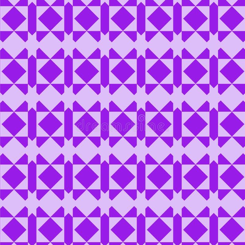 紫罗兰色和淡紫色现代几何重复的样式 向量例证