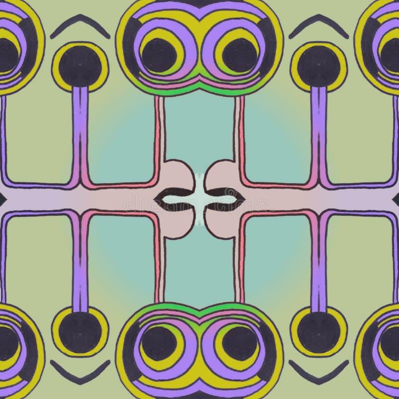 紫罗兰色和绿色摘要眼睛数字艺术 皇族释放例证