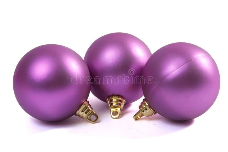 紫罗兰色圣诞节的范围 库存图片