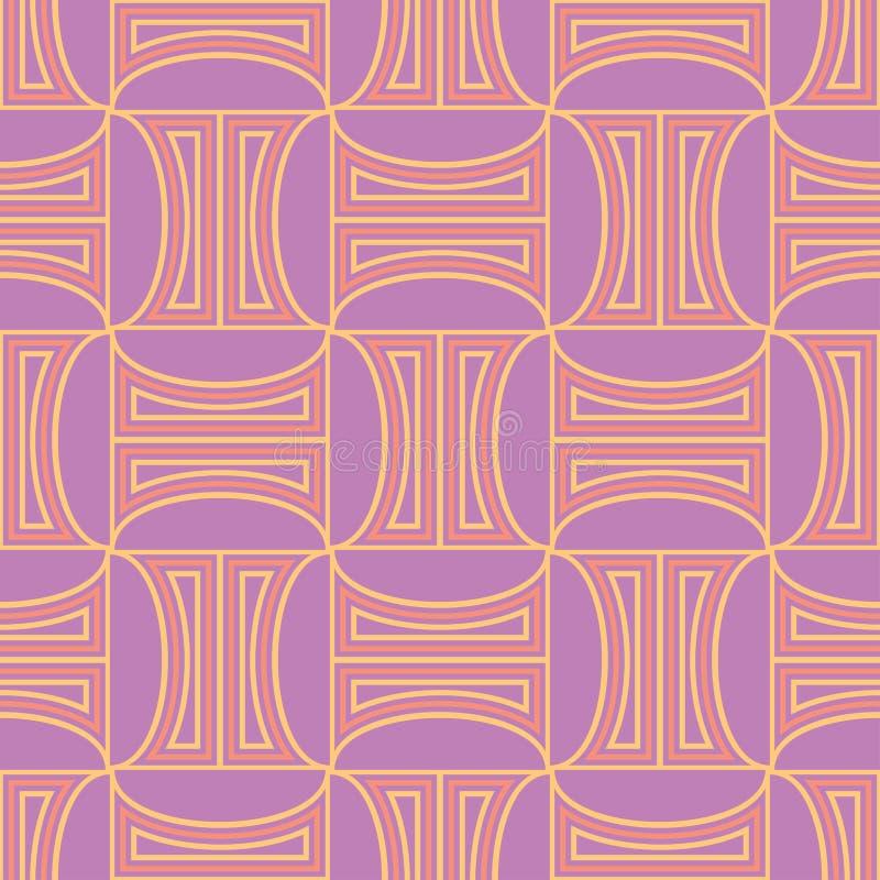紫罗兰色紫红色的几何无缝的样式 明亮的色的背景 向量例证