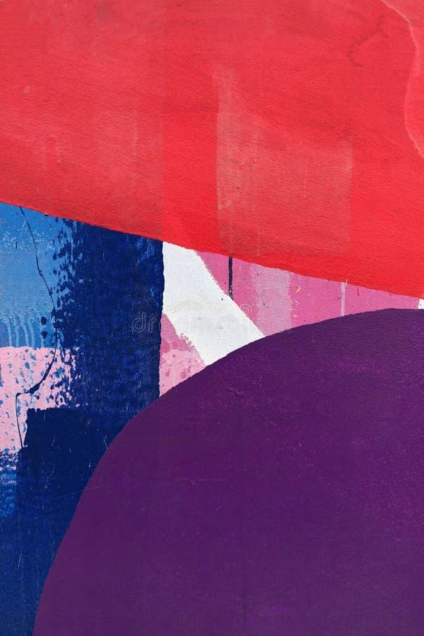 紫色、蓝色和红色五颜六色的树荫  库存照片