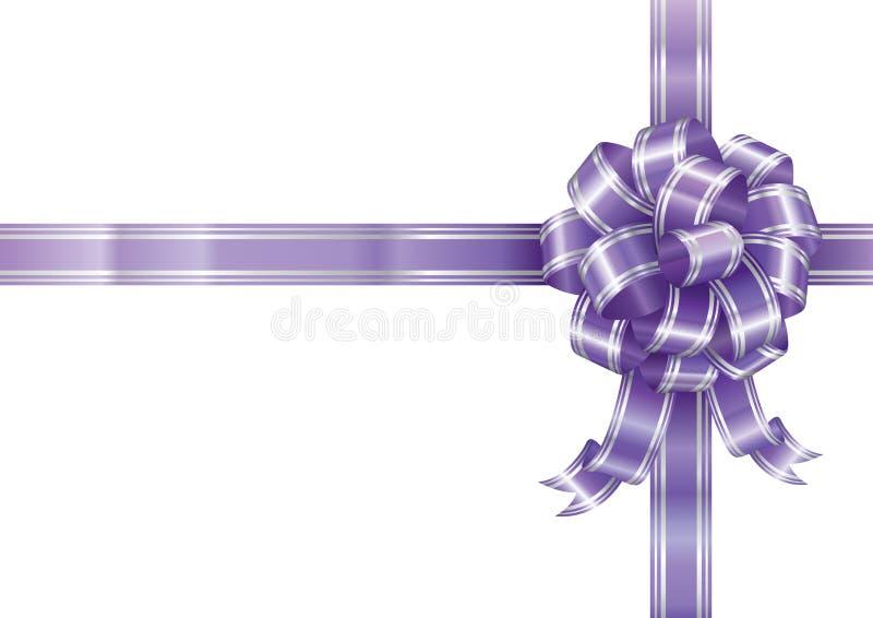 紫色丝带 向量例证