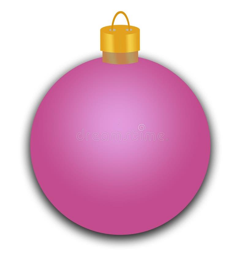 紫色假日装饰品 免版税库存图片