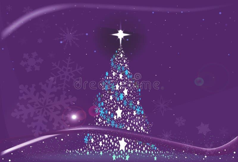 紫色冷的圣诞节 库存例证