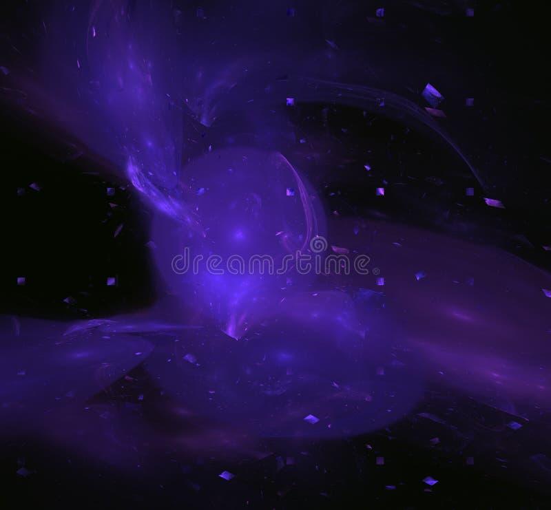 紫色分数维圈子球形 幻想分数维纹理 abstact艺术深深数字式红色转动 3d翻译 计算机生成的图象 向量例证