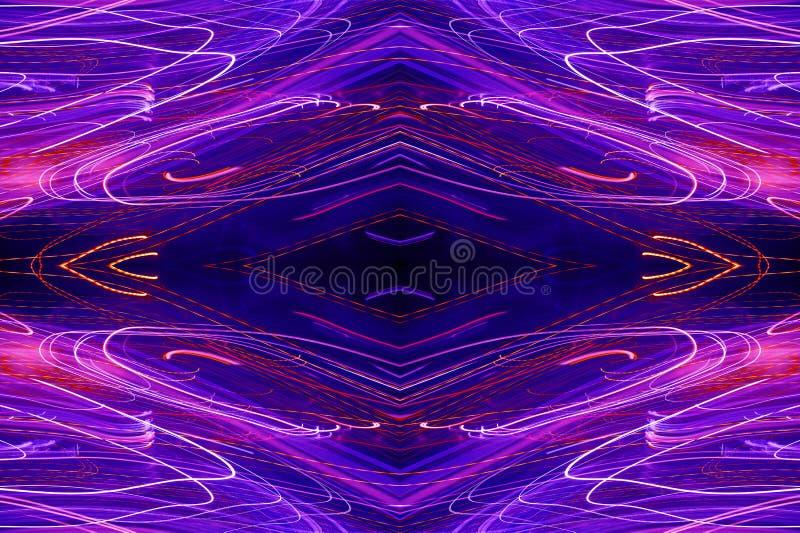 抽象霓虹样式 皇族释放例证