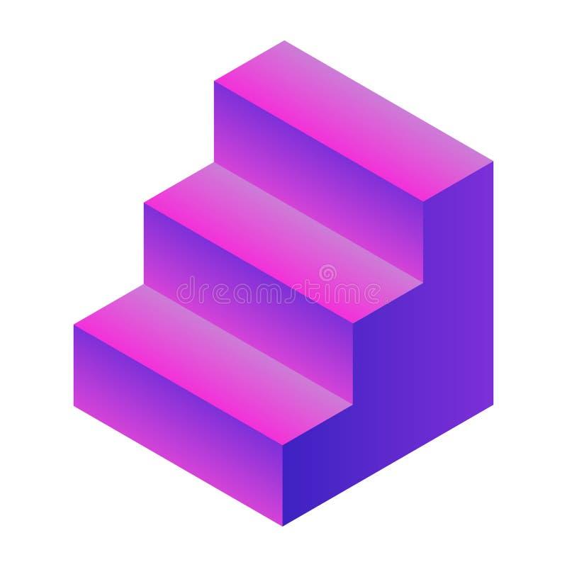 紫色台阶象,等量样式 皇族释放例证