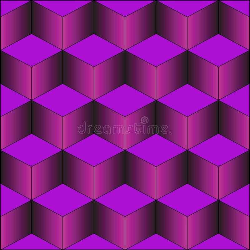 紫色台阶 皇族释放例证