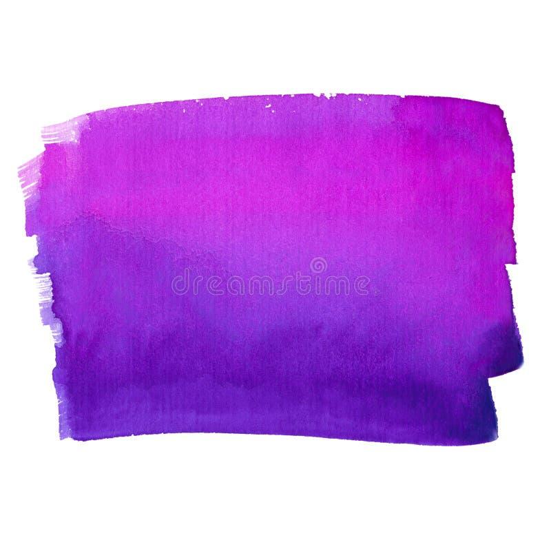 紫色和桃红色抽象水彩背景 免版税库存照片