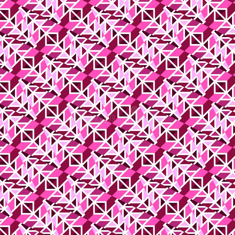 紫色和桃红色现代几何重复的样式 库存例证
