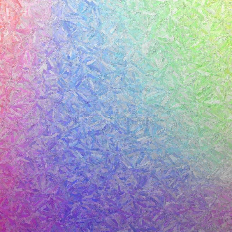 紫色和黄色五颜六色的impasto正方形背景的例证 免版税库存图片
