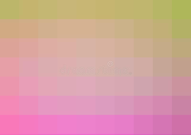 紫色和黄色ombre方形的作用样式墙纸背景设计 库存例证