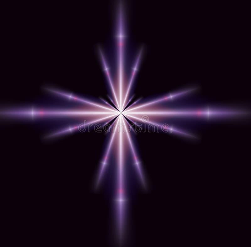 紫色唯一星形 皇族释放例证