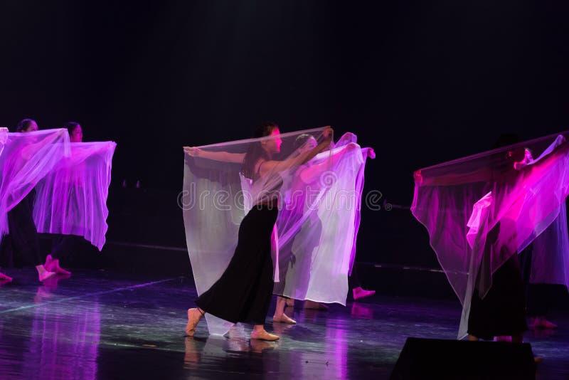紫色围巾7--舞蹈戏曲驴得到水 免版税图库摄影