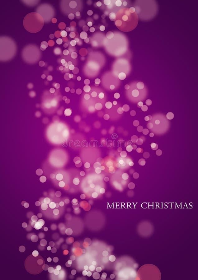 紫色圣诞灯 库存例证