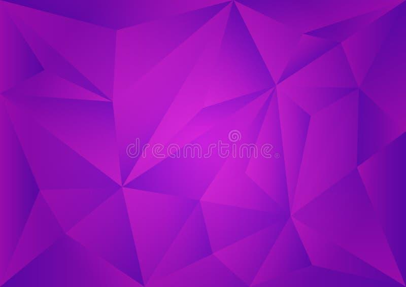 紫色多角形背景,传染媒介例证,抽象纹理 向量例证