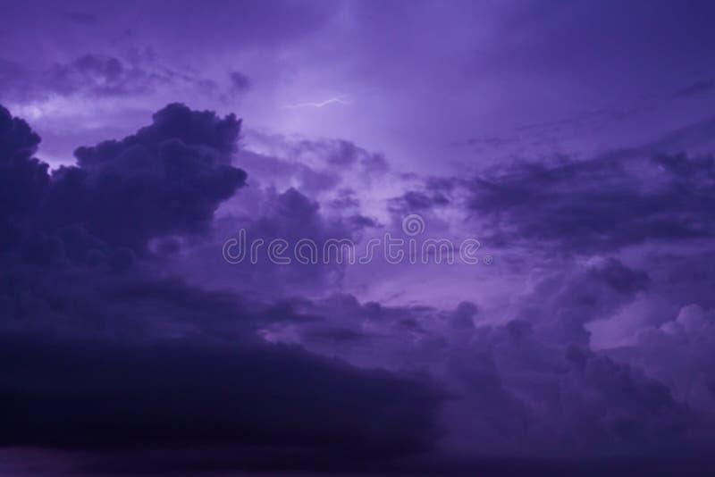 紫色天空 库存图片