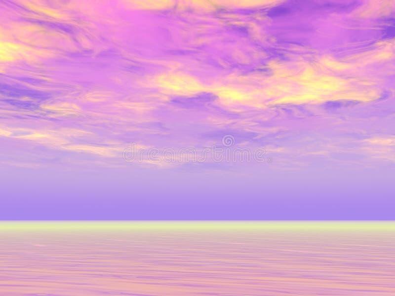 紫色天空 库存例证