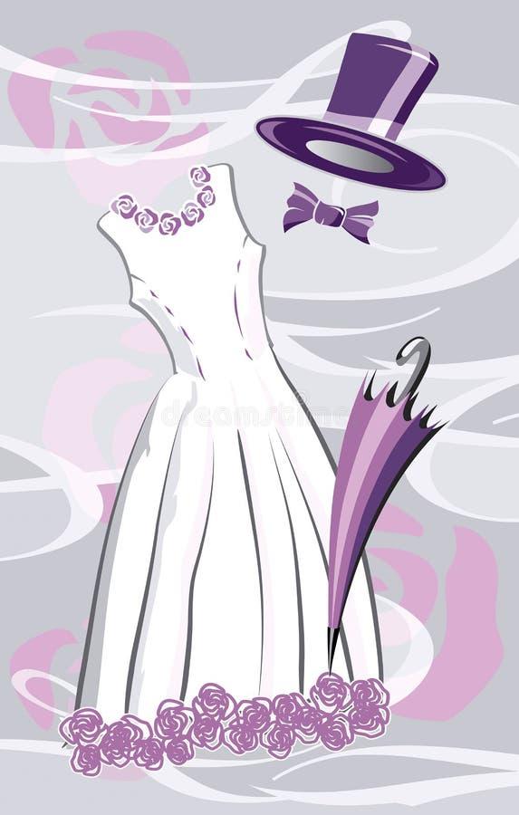 紫色婚礼 图库摄影