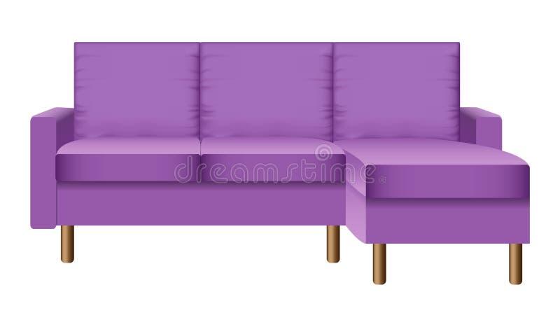 紫色客厅沙发大模型,现实样式 皇族释放例证