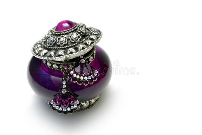 紫色小装饰品 库存照片
