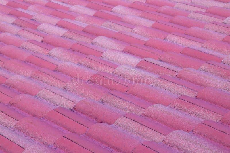 紫色屋顶纹理 免版税库存图片