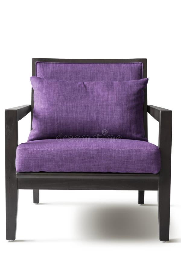 紫色扶手椅子 免版税库存照片