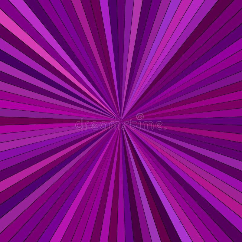 紫色摘要荧光的镶边光芒爆炸背景设计 向量例证