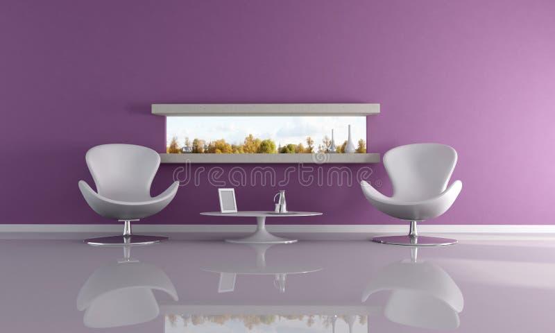 紫色放松空间 库存例证