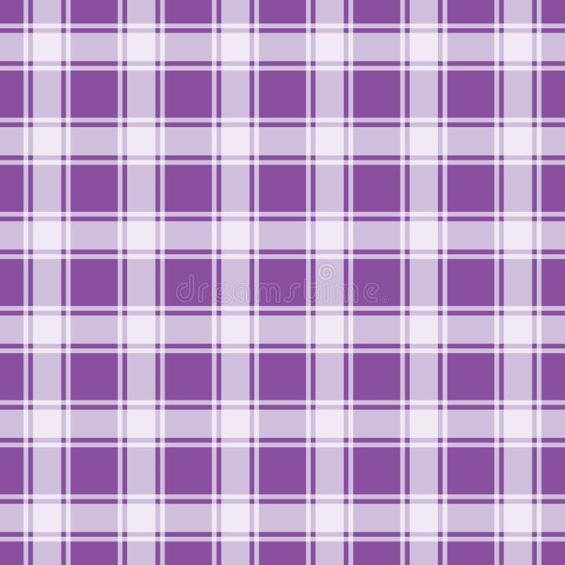 紫色方格花布样式,几何背景 库存例证