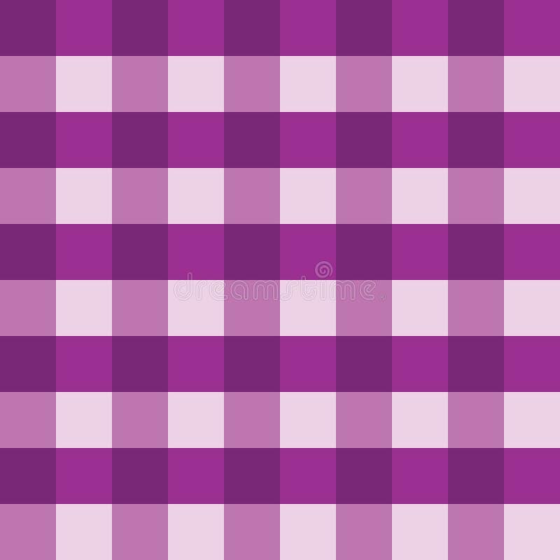 紫色方格花布桌布无缝的传染媒介背景样式设计 向量例证