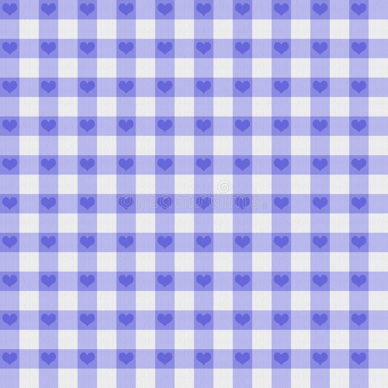 紫色方格花布织品有重点背景 免版税库存图片