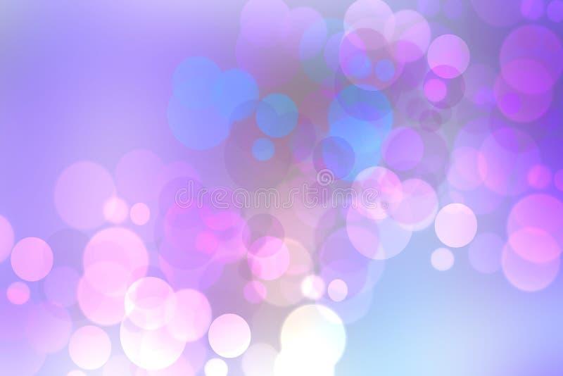 紫色明亮的抽象Bokeh 您的产品显示蒙太奇的模板 美好的纹理 库存例证