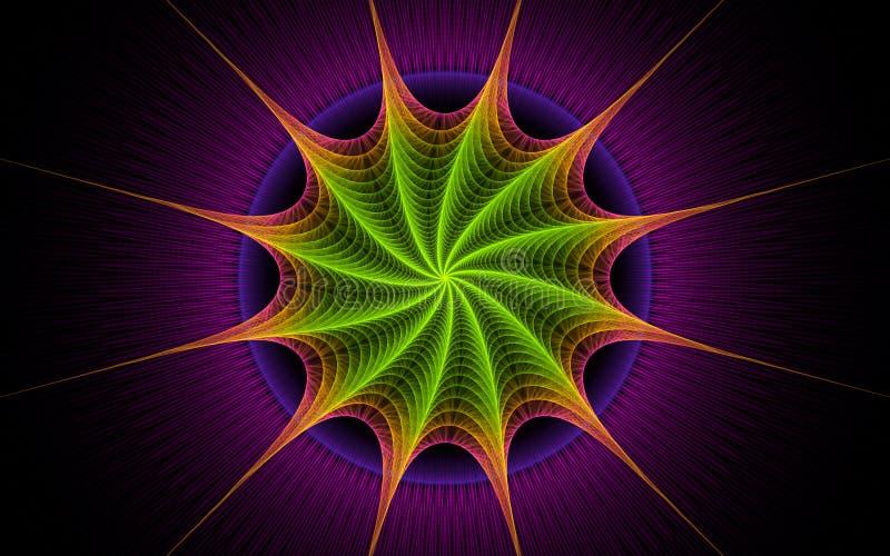 紫色星形转弯 皇族释放例证