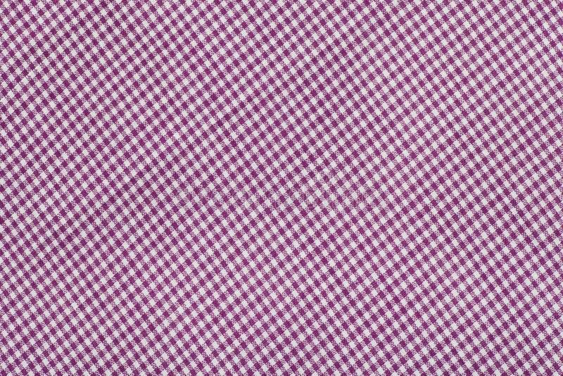 紫色格子呢模式,方格的织品 库存照片