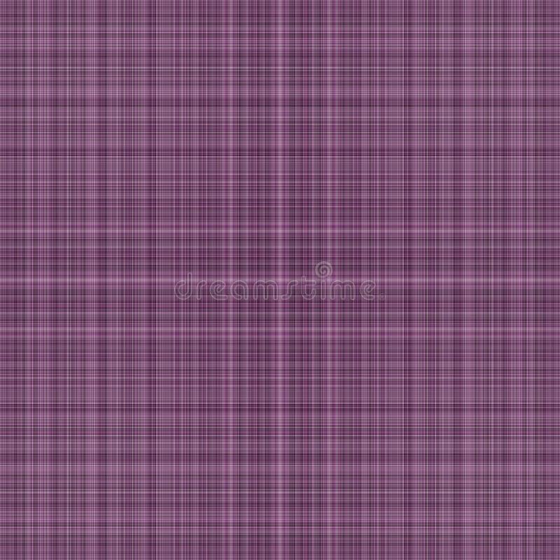 紫色格子花呢披肩 免版税库存照片