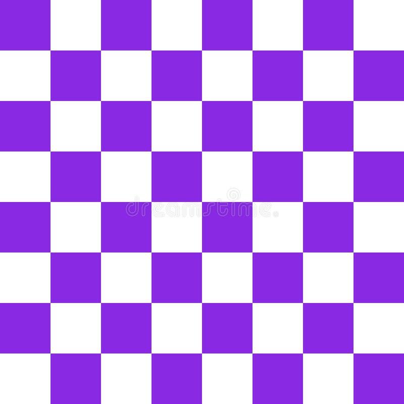 紫色棋盘传染媒介 向量例证