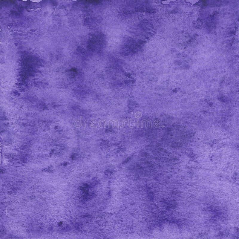 紫色水彩纹理 免版税图库摄影
